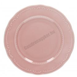 Vecchio Vienna lapostányér, 31 cm, rózsaszín porcelán