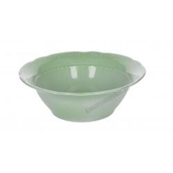 Vecchio Vienna salátástál, 20xH7 cm, zöld porcelán