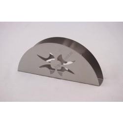 Szalvétatartó, 15x3x6 cm, rozsdamentes