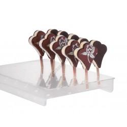 Jégkrémállvány fapálcikás jégkrémhez, 16-24 db-os, 165x360x50 mm