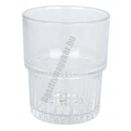 Empilable vizespohár 200 ml sorolható temperált, üveg