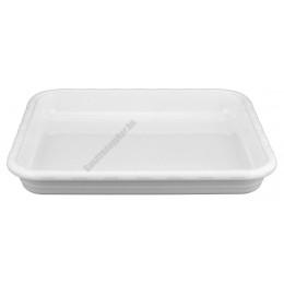 Gn edény 1/2, 32,5×26,5×4,5 cm, szögletes, fehér polikarbonát