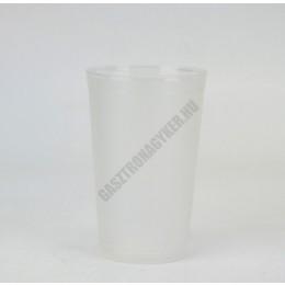 Polikarbonát pohár, homokfúvott, 240 ml