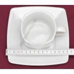 Victoria teáscsésze+alj 0,19 liter szögletes, porcelán