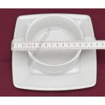 Victoria levesescsésze+alj 0,32 liter szögletes, porcelán