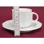 Mercury teáscsésze+alj 14 cm 0,20 liter, porcelán