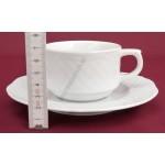 Afrodyta teáscsésze+alj 1,9 dl porcelán