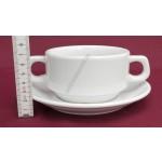 Kaszub levesescsésze+alj 16 cm 0,32 liter, porcelán