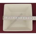 Porcelántálka 12 cm magas 400 ml szögletes