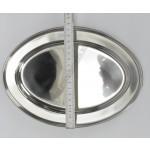 Tálca ovális 25 cm, vastagság 0,4 mm, rozsdamentes