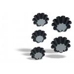 10 bordás briós forma tapadásmentes bevonattal 8 cm