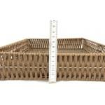 Pékáru kosár összecsukható GN 2/3 6,5 cm magas, szürke PP