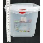 Gn edény 1/6 150 mm (16,2×17,6×15 cm) 2,6 liter ételtároló légmentesen záró fedővel