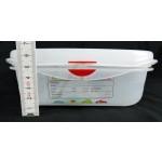 GN edény 1/3 65 mm (32,5×17,6× 6,5 cm) 2,5 liter ételtároló légmentesen záró fedővel