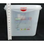 GN edény 1/3 150 mm (17,6×32,5×15 cm) 6 liter ételtároló légmentesen zárófedővel
