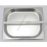 GN edény, 1/2 40 mm, 2 l, rozsdamentes