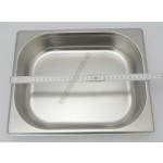 Gn edény 1/2  65 mm (32,5×26,5×6,5 cm) 4 liter rozsdamentes tepsi