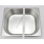 Gn edény 1/2 100 mm (32,5×26,5×10 cm) 6,5 liter rozsdamentes tepsi