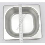 Gn edény 1/6 65 mm (17,6×16,2×6,5 cm) 1 liter rozsdamentes