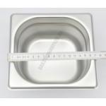 GN edény, 1/6 100 mm, 1,6 l, rozsdamentes