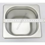 GN edény, 1/6 150 mm, 2,4 l, rozsdamentes