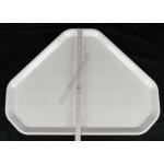 Műanyag trapéz tálca, 47,5×34 cm