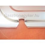Gn 1/1 fedő (32,5×53 cm) kanálkivágással rozsdamentes