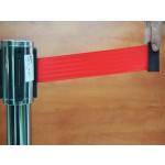 Kordonoszlop, 2 méter piros szalagos, rozsdamentes