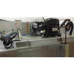 Két üvegajtós hűtővitrin Gn 2/1 polcmérettel, rozsdamentes, 1200 literes GNC1400L2G