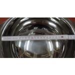 Leveses tál 2,5 liter, talpas, fedő nélkül, rozsdamentes