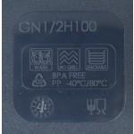 Gn edény 1/2 100 mm (26,5×32,5×10 cm) 6 liter polipropilén