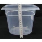 Gn edény 1/6 150 mm (16,2×17,6×15 cm) 2 liter polipropilén