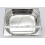 GN edény, 1/2 100 mm, 6,5 l, csúszófüllel, rozsdamentes