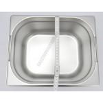 Gn edény 1/2 150 mm (32,5×26,5×15 cm) 9,5 liter csúszófüllel rozsdamentes tepsi