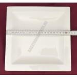 True Life szögletes lapostányér 21,8×21,8 cm, porcelán