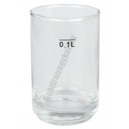 Gasztro pohár 100 ml mértékjeles, üveg