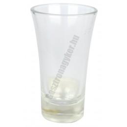 Pálinkás pohár, 30-50 ml, jeles, üveg
