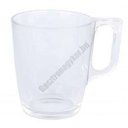 Bögre, 250 ml, temperált üveg
