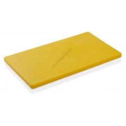 Vágólap, 50x30x2 cm, sárga, 6 gumitalpacskával