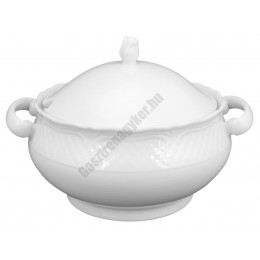 Afrodyta levestál fedővel 2,7 liter, porcelán