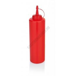 Szósznyomó palack, 7 dl, piros, műanyag