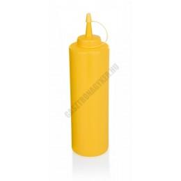 Szósznyomó palack, 7 dl, sárga, műanyag