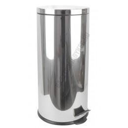 Pedálos szemetes 30 liter, kivehető vödörrel, matt