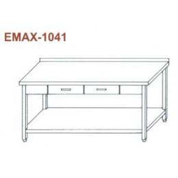 Munkaasztal alsó polccal, 2db fiókkal, hátsó felhajtással Emax-1041 KR 1900×700×850