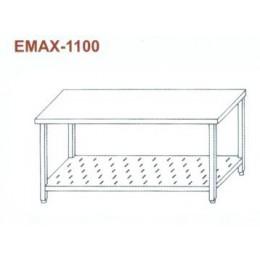 Munkaasztal perforált alsó polccal Emax-1100 KR 1200×700×850