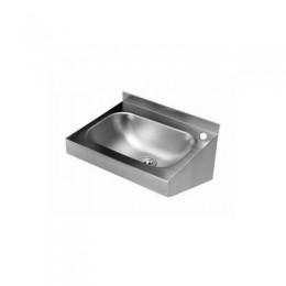 Fali kézmosó csaptelep nélkül, keskeny takaróborítással, 400×320 mm