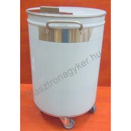 Rozsdamentes hulladék- és moslékgyűjtő 50 liter, 380×615 mm