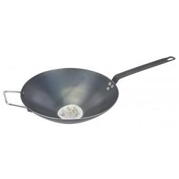 Lyonnaise wok 30 cm carbon acél