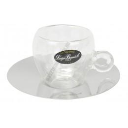 Thermic Glass espresso csésze+rozsdamentes alj 2 db/doboz, üveg