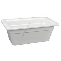 Gn edény 1/4 100 mm (16,2×26,5×10 cm) fehér melamin